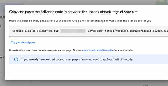 AdSense codes