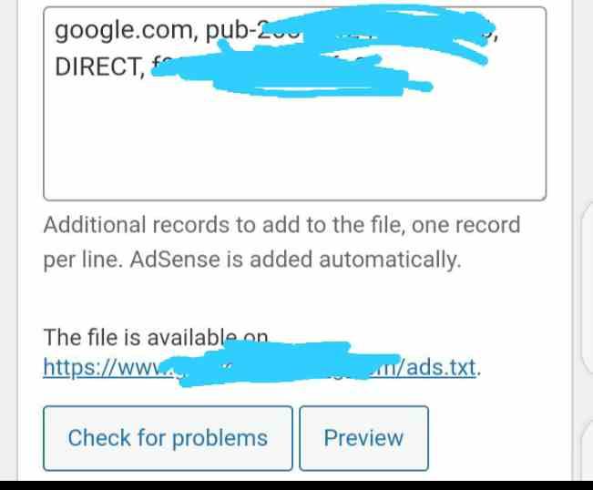 Ads txt settings