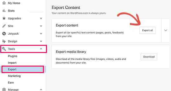 Importing Content into Self Hosted WordPress Site