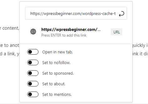 wordpress interlinks