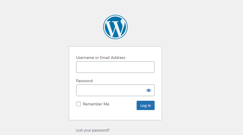 front end login pages